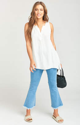 Show Me Your Mumu Tawny Tunic Tank ~ White Silky Dots