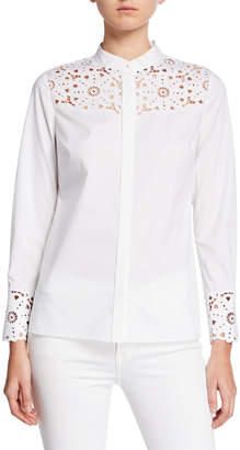 Elie Tahari Zila Paneled Lace Shirt