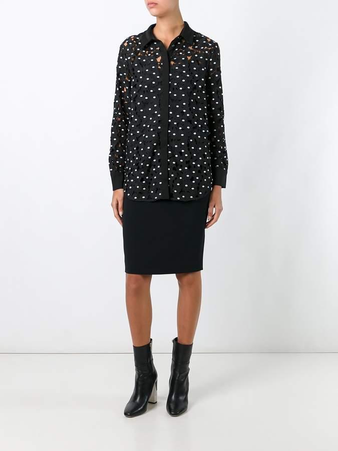 Self-Portrait 'Polka Daisy' shirt