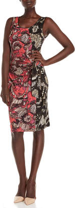 Nic+Zoe Nic + Zoe Etched Floral Tie Waist Dress