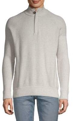 Robert Graham Lunar Cotton Cashmere Half-Zip Sweater