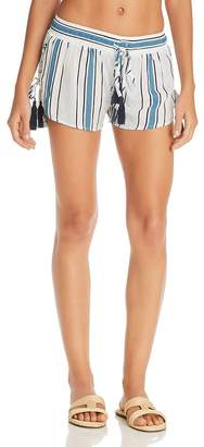 7745fb5aa3 Surf.Gypsy Printed Side Lace-Up Swim Cover-Up Shorts
