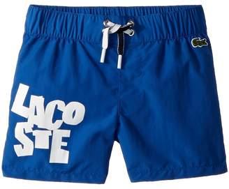 Lacoste Kids Taken Down Writing Swimsuit Boy's Shorts