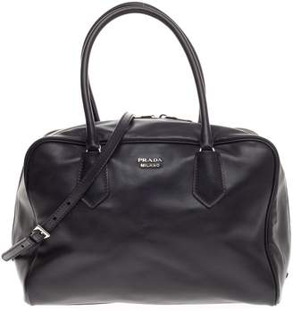 Prada Inside Bauletto Satchel Medium Nero Black