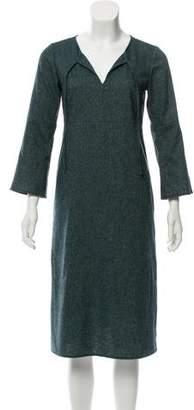 agnès b. 3/4 sleeve Midi Dress