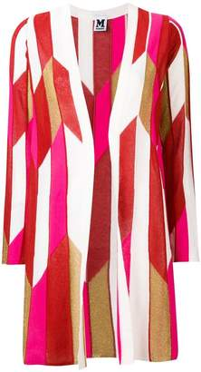 M Missoni contrast panels cardi-coat