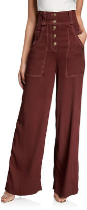 Jonathan Simkhai Structured Twill Carpenter Pants