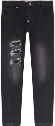 Philipp Plein Ripped Slim Fit Jeans