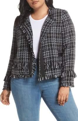 Halogen Tweed Fringe Jacket