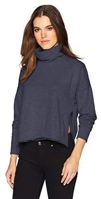Three Dots Women's Brushed Italian Loose Short Sweatshirt