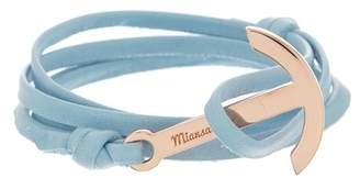 Miansai Modern Anchor on Leather Bracelet