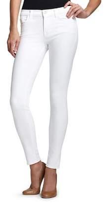 J Brand Jeans Mid Rise 811 Skinny in Blanc