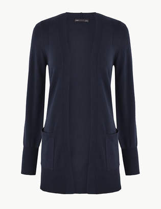 Marks and Spencer Open Front Patch Pocket Cardigan