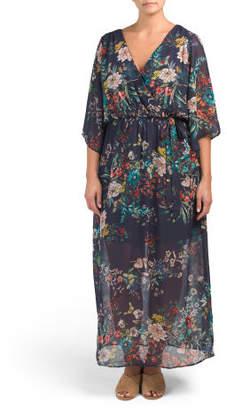 Plus Juniors Floral Maxi Dress