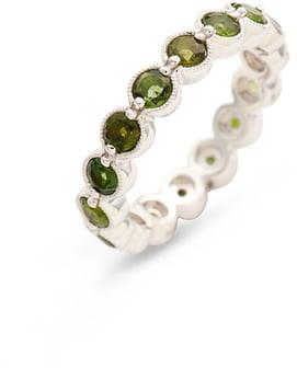 Bony Levy Green Tourmaline Bezel Set Eternity Ring