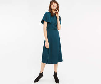 Oasis ANGEL SLEEVE MIDI DRESS