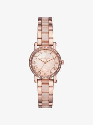 Michael Kors Petite Norie Pave Rose Gold-Tone Watch