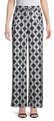 Donna Karan Matte Jersey Wide Leg Pants