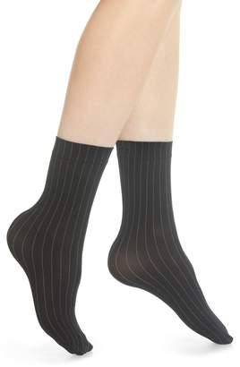 Wolford Muriel Pinstripe Crew Socks