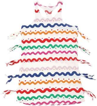 Stella McCartney Wavy Stripes Organic Cotton Jersey Dress