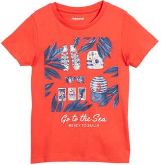 Mayoral Ready to Sail Printed Short-Sleeve T-Shirt, Size 3-7