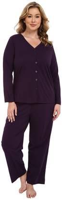 Jockey Plus Size Two-Piece Cotton Cardigan PJ Set Women's Pajama Sets