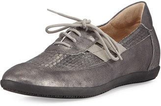 Sesto Meucci Halina Athleisure Metallic Leather Oxford, Black $169 thestylecure.com