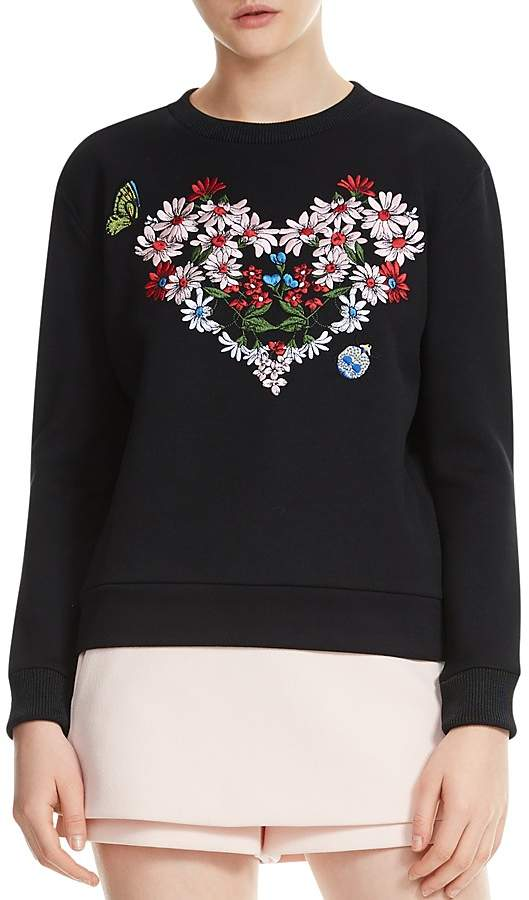 Telbi Embroidered Floral Heart Sweatshirt
