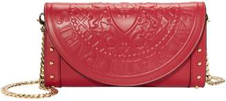 Balmain Red Clutch Chain Bag