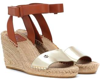 Tory Burch Bima leather wedge espadrilles