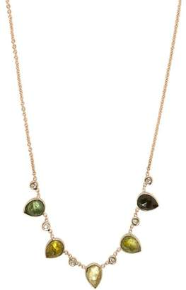 Jacquie Aiche Gold, Tourmaline & Diamond Necklace - Womens - Multi