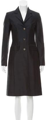 Michael Kors Silk Shantung Coat