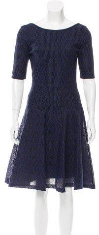 Christian Dior Knee-Length Embroidered Dress