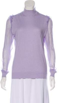 Undercover Ruffle-Accented Mock Neck Sweater