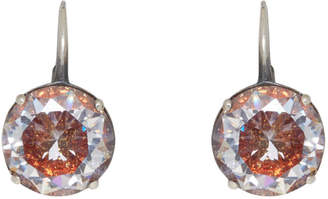Bottega Veneta Silver Zircon Earrings