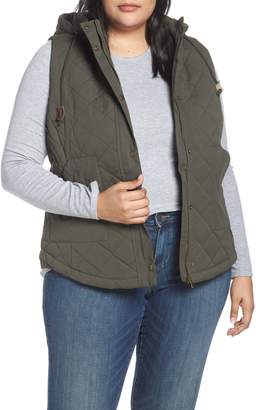 Lemon Tart Hooded Quilted Vest