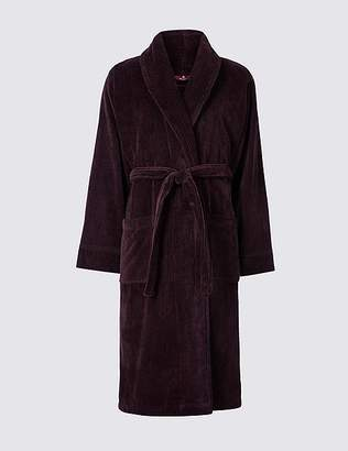 Marks and Spencer Luxury Pure Cotton Dressing Gown with Belt