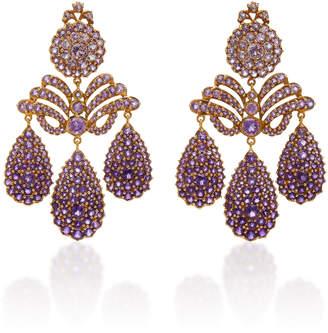 Sylvie Corbelin Marquise Palace Amethyst Chandelier Earrings