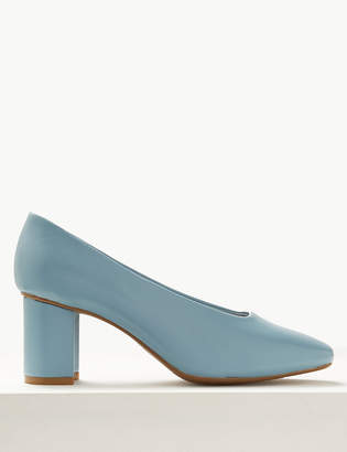 Marks and Spencer Wide Fit High Front Square Toe Court Shoes