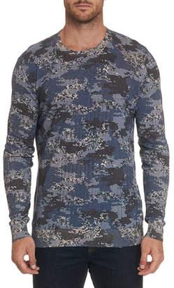 Robert Graham Men's Dante Long-Sleeve Crewneck Shirt