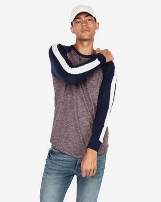 Express Loose Knit Marled Baseball T-Shirt