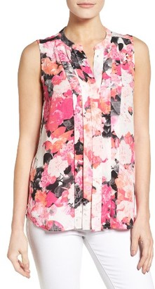 Women's Chaus Garden Bouquet Pleat Blouse $69 thestylecure.com
