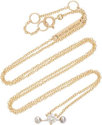 Delfina Delettrez Convertible 18K Gold Diamond Necklace