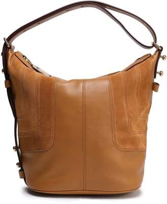 Marc Jacobs Suede-paneled Leather Shoulder Bag