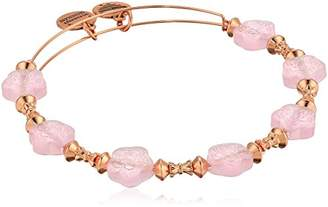 Alex and Ani Women's Flower Halo Coral Bangle Bracelet