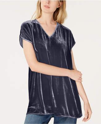 Eileen Fisher Velvet V-Neck Tunic