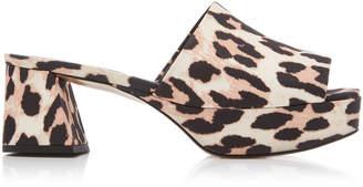 Ganni Leonie Printed Platform Sandals