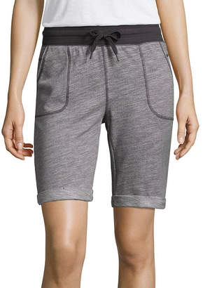 ST. JOHN'S BAY SJB ACTIVE Active 9 1/2 Classic Fit French Terry Bermuda Shorts-Petite