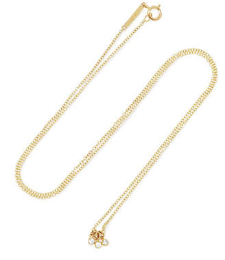 Lee Grace Diamond Dot 14-karat Gold Diamond Necklace