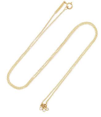 Lee Grace Diamond Dot 14-karat Gold Diamond Necklace